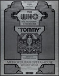 "Movie Posters:Rock and Roll, Tommy with The Who by David Edward Byrd (Bill Graham, 1970).Concert Poster (20"" X 26""). Rock and Roll.. ..."