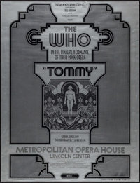"""Tommy with The Who by David Edward Byrd (Bill Graham, 1970). Concert Poster (20"""" X 26""""). Rock and Roll"""