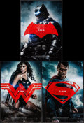 "Movie Posters:Action, Batman V Superman: Dawn of Justice (Warner Brothers, 2016). MiniPosters (3) (11.5"" X 17"") Batman, Superman, & Wonder Woman ...(Total: 3 Items)"