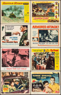 """Movie Posters:War, Crash Dive & Others Lot (20th Century Fox, R-1956). Lobby Cards(102) (11"""" X 14""""). War.. ... (Total: 102 Items)"""