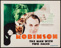"""The Man with Two Faces (First National, 1934). Title Lobby Card (11"""" X 14""""). Crime"""