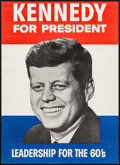 "Movie Posters:Miscellaneous, Kennedy for President (Citizens for Kennedy and Johnson, 1960).Campaign Poster (13"" X 18""). Miscellaneous.. ..."