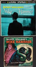 """Books:Furniture & Accessories, [Mickey Spillane]. Two Mike Hammer """"Crime Music"""" Record Albums.Circa 1954-1959.... (Total: 2 Items)"""