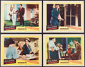 Books:Furniture & Accessories, [Mickey Spillane]. Four Lobby Cards from The Long Wait....