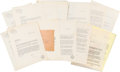 Books:Manuscripts, [Mickey Spillane]. Typed Correspondence Between Spillane and GeneRoddenberry. Newburgh, NY and Temple City, CA: 1956-1957....