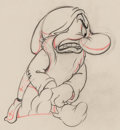Animation Art:Production Drawing, Snow White and Seven Dwarfs Grumpy Animation Drawing (Walt Disney, 1937)....