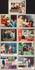 """Movie Posters:Thriller, Bad Day at Black Rock & Others Lot (MGM, 1955). Title Lobby Card & Lobby Cards (8) (11"""" X 14""""). Thriller.. ... (Total: 9 Items)"""