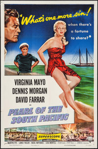 """Pearl of the South Pacific (RKO, 1955). One Sheet (27"""" X 41""""). Adventure"""