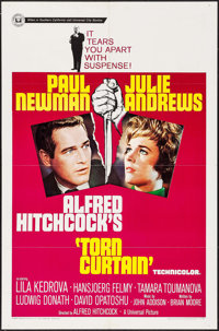 """Torn Curtain (Universal, 1966). One Sheet (27"""" X 41""""). Hitchcock"""