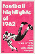 "Movie Posters:Sports, Football Highlights of 1962 (Universal, 1962). One Sheet (27"" X 41""). Sports.. ..."