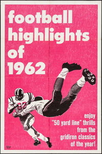 "Football Highlights of 1962 (Universal, 1962). One Sheet (27"" X 41""). Sports"
