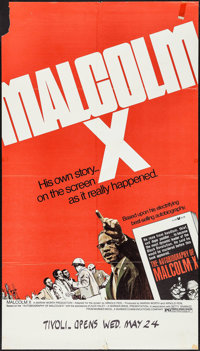 """Malcolm X & Other Lot (Warner Brothers, 1972). One Sheet (25"""" X 44.5"""" & 27"""" X 41""""). Document..."""