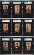 Football Cards:Sets, 1894 N302 Mayo Football SGC Graded Collection (9). ...