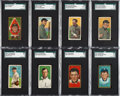 Baseball Cards:Lots, 1909-11 T206 & T205 Polar Bear Collection (49) With Two Ty CobbCards. ...