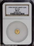 California Fractional Gold: , Undated 25C Liberty Round 25 Cents, BG-224, R.3, MS61 NGC. . PCGSPopulation (18/143). ...