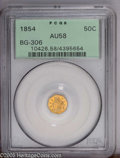 California Fractional Gold: , 1854 50C Liberty Octagonal 50 Cents, BG-306, R.4, AU58 PCGS. PCGSPopulation (8/62). (#10426)...