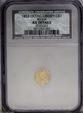 California Fractional Gold: , 1853 $1 Liberty Octagonal 1 Dollar, BG-518, R.5, --Plugged--NCS. AUDetails,. PCGS Population (2/28). ...