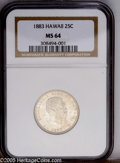 Coins of Hawaii: , 1883 25C Hawaii Quarter MS64 NGC. PCGS Population (244/177). NGCCensus: (127/121). Mintage: 500,000. (#10987)...