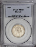 Coins of Hawaii: , 1883 25C Hawaii Quarter MS64 PCGS. PCGS Population (244/177). NGCCensus: (129/121). Mintage: 500,000. (#10987)...