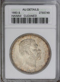 Coins of Hawaii: , 1883 $1 --Cleaned--Hawaii Dollar ANACS.AU Details. PCGS Population(45/150). NGC Census: (14/107). Mintage: 500,000. (#10995...