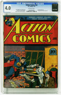 Golden Age (1938-1955):Superhero, Action Comics #32 (DC, 1941) CGC VG 4.0 Off-white pages. Another great Superman cover from legendary artist Fred Ray. This i...