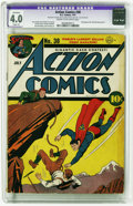 Golden Age (1938-1955):Superhero, Action Comics #38 (DC, 1941) CGC Apparent VG 4.0 Slight (A) Cream to off-white pages. Superman cover artist Fred Ray has our...
