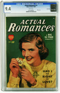 Golden Age (1938-1955):Romance, Actual Romances #1 Carson City pedigree (Marvel, 1949) CGC NM 9.4White pages. Photo cover. This is currently the highest gr...