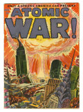 Golden Age (1938-1955):Science Fiction, Atomic War! #1 (Ace, 1952) Condition: GD. Atomic bomb cover.One-inch piece off of back cover, waterstain. Overstreet 2005 G...