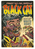 "Golden Age (1938-1955):Horror, Black Cat Mystery #50 (Harvey, 1954) Condition: Apparent VG.Classic Warren Kremer ""White Heat"" cover. Amateur color touch. ..."