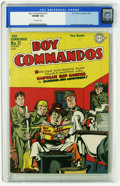 Golden Age (1938-1955):War, Boy Commandos #11 (DC, 1945) CGC VF/NM 9.0 Off-white pages. JackKirby and Joe Simon infinity cover and interior art. Overst...