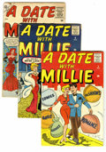 Silver Age (1956-1969):Romance, A Date With Millie And Other Marvel Glamor Gals Group (Marvel,1941-53) Condition: Average FR/GD. A Date With Millie (fi...(Total: 13 Comic Books)