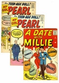 Silver Age (1956-1969):Romance, A Date With Millie Plus Other Marvel Gals Group (Marvel, 1959-63) Condition: Average VG/FN. Includes A Date With Millie ... (Total: 5 Comic Books)