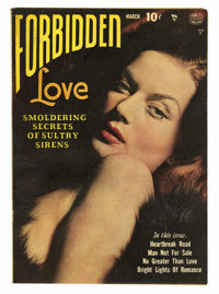 Forbidden Love #1 (Quality, 1950) Condition: Apparent FN. Classic photo cover. Reed Crandall art. Overstreet lists as &q...
