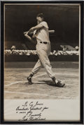 Baseball Collectibles:Photos, 1950's Ted Williams Signed Oversized Photograph. ...