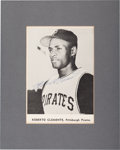 Baseball Collectibles:Photos, 1960's Roberto Clemente Signed Photograph Display. ...