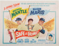 Baseball Collectibles:Others, 1962 Safe at Home Lobby Card with Mantle & Maris. ...