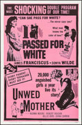 "Movie Posters:Exploitation, I Passed for White/Unwed Mother Combo (Allied Artists, R-1965). OneSheet (27"" X 41""). Exploitation.. ..."