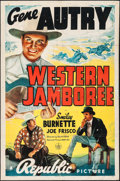 "Movie Posters:Western, Western Jamboree (Republic, 1938). Folded, Very Good/Fine. OneSheet (27"" X 41""). Western.. ..."