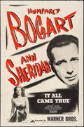 """Movie Posters:Crime, It All Came True (Warner Brothers, R-1945). One Sheet (27"""" X 41"""").Crime.. ..."""