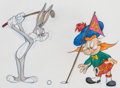 Animation Art:Production Drawing, Virgil Ross - Bugs Bunny Golf-Themed Illustration (Warner Brothers,c. 1990s)....
