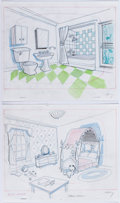Animation Art:Concept Art, Johnny Bravo Layout Drawings by Jerry Eisenberg Group of 2(Hanna-Barbera, 1997)....