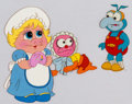 Animation Art:Production Cel, Muppet Babies Baby Piggy, Animal, and Gonzo Production CelSetup (Jim Henson, c. 1980s)....