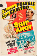 """Movie Posters:Musical, Ship Ahoy (MGM, 1942). One Sheet (27"""" X 41"""") Style C. Musical.. ..."""
