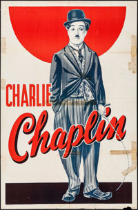 """Charlie Chaplin (Unknown, 1930s). Stock One Sheet (27"""" X 41""""). Comedy"""