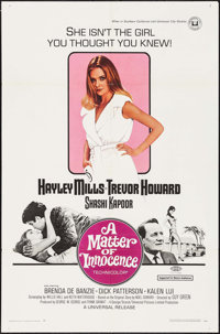"A Matter of Innocence (Universal, 1968). One Sheet (27"" X 41"") Lobby Card Set of 8 (11"" X 14""), &..."