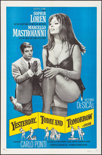 "Yesterday, Today and Tomorrow (Embassy, 1964). One Sheet (27"" X 41""), Lobby Cards (6) (11"" X 14""), &..."
