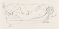 Fine Art - Work on Paper:Drawing, Walt Kuhn (American, 1877-1949). Reclining Nude, 1929 andNude on a Sofa (two works). Ink on paper, each. 8-1/2 ...(Total: 2 Items)