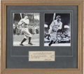Baseball Collectibles:Others, 1941 Babe Ruth Signed Check Display....
