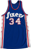 Basketball Collectibles:Uniforms, 1974-75 Clyde Lee Game Worn Philadelphia 76ers Jersey....