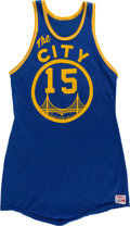Basketball Collectibles:Uniforms, 1967-68 Bobby Lewis Game Worn San Francisco Warriors Jersey....